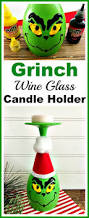 grinch wine glass candle holder christmas holiday craft