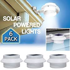 Led Lights Amazon 6 Pack Deal Outdoor Solar Gutter Led Lights Basic Handheld