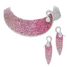 pink sapphire necklace images Les merveilles meche ruby pink sapphire and diamond necklace and jpg__