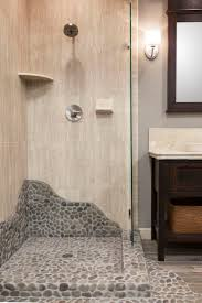mosaic bathroom floor tile ideas this shower brings elements of nature with a shower pan home depot