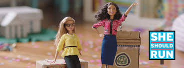 facebook themes barbie inspire the next generation she should run