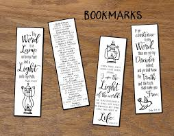 thy word christian bookmarks instant download diy printable
