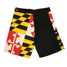 4702 Best Our Wedding Board Maryland Flag Board Shorts U2013 Route One Apparel