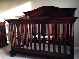 Nursery Furniture Sets White by Decor Fabulous Crib In Dark Cherry Wood For Outstanding Munire