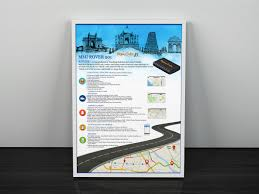 Map Your Running Route by Flyer Brochure For