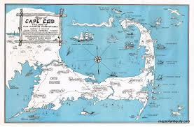 map of cape cod the land of our pilgrim forefathers sold