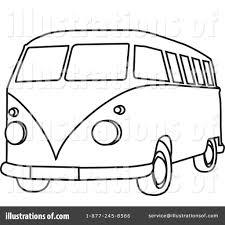 hippie van clipart 210487 illustration by rosie piter