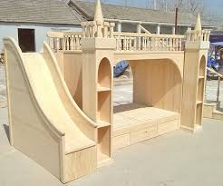 made to order luxury princess castle bunk bed with stairs storage