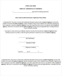 Non Disclosure Statement Template by Non Disclosure Agreement Form 9 Free Word Pdf Documents