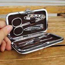 manicure set favors 120pcs 6 in 1 retro pu box high quality manicure set nail clipper