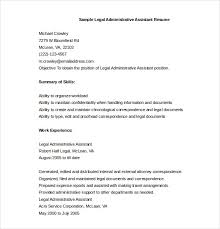 administrative assistant resume template u2013 12 free word excel