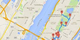Central Park New York Google Maps by One Man Calculated The Ultimate Nyc Walking Tour Huffpost