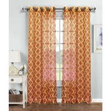 Sheer Curtains Orange Orange Sheer Curtains Drapes Window Treatments The Home