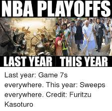 Nba Playoff Meme - nba playoffs nba meme last year this year last year game 7s