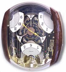 qxm496brh seiko melodies in motion musical clock