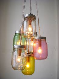 decorating ideas cool picture of hanging colorful canning jar