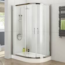 1000 x 800 right quadrant 6mm sliding glass shower enclosure with