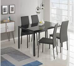 Buy Hygena Lido Glass Dining Table   Chairs Black At Argosco - Argos kitchen tables