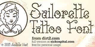 sailorette tattoo font befonts com