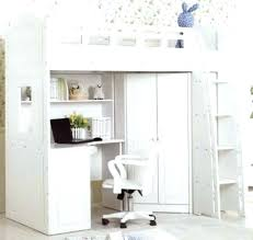 lit bureau combiné armoire lit bureau mezzanine avec et design blanc pour adultes