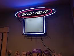 bud light light up sign large bud light dry erase menu specials light up sign neon budweiser