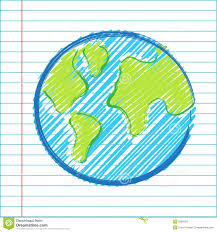 child u0027s drawing of map of the world royalty free stock photography