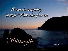 i can do everything through him who gives me strength bible