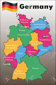 Germany Political Map by Political Map Of Germany Royalty Free Cliparts Vectors And Stock