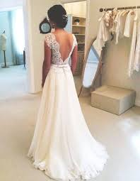 open back wedding dresses a line neckline chiffon lace wedding dresses wedding