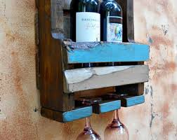 distressed wine rack etsy