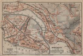 map of montreux montreux vevey clarens town city plan switzerland suisse