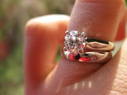 solitaire engagement ring with wedding band show me your solitaire engagement ring w wedding band weddingbee