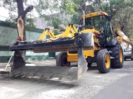 pala retro excavadora jcb 3c la máquina vial