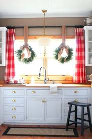 christmas kitchen curtains valances talk of the house love this