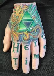 fake skin practice tattoo hand with zelda tats for sale geekologie