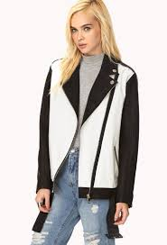 the moto jacket forever 21 borrowed from the boys moto jacket in black lyst