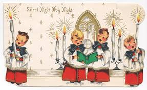 retro christmas cards retro christmas card silent with choirboys free ephemera