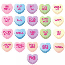 valentines day heart candy awesome conversation heart template pictures inspiration exle