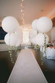 large white balloons balloon decorations an affair for wedding
