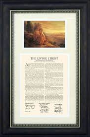 framed family proclamation the family a proclamation to the world framed with temple want