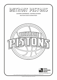 detroit pistons u2013 nba basketball teams logos coloring pages cool