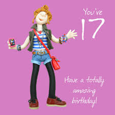 17th birthday greeting card one lump or two range cards