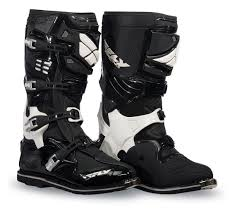 white motocross boots fly racing sector boots revzilla