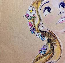 Rapuznel Colour Sketch Disney Tangled Sketches