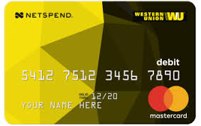 prepaid debit card no fees wu netspend prepaid card western union