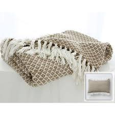 plaid coton pour canapé boutis plaid ou jeté de canapé jeté de fauteuil et de canapé motif