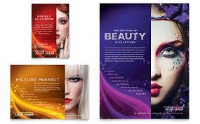 makeup artist tri fold brochure template design