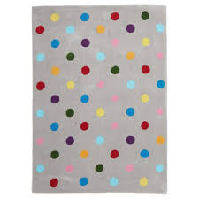 Dot Rug Bright Coloured Kids Dots Design Grey Floor Rugs Free Shipping