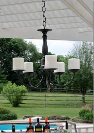 Outdoor Chandelier Diy Battery Operated Outdoor Chandelier For Your Property Clubnoma Com