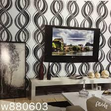 black u0026 white design for tv unit wall a geometrical zig zag